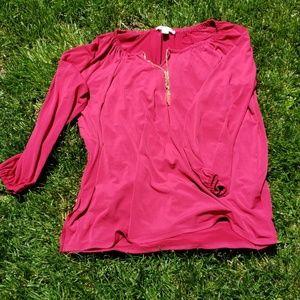 Gorgeous fuchsia blouse by Michael Kors